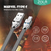 Kabel Data Type C ZOLA Marvel 100cm Fast Sync & Charging 2.1A -Grey