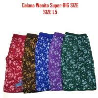 Celana Wanita Celana Pendek Santai Motif Warna Super Big Size Jumbo 5L