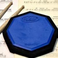 SZS Drum Pad Compact Blue 6 Inch With Strap+Bonus Vcd Berkualitas