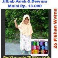 (Promo!!) Jilbab Instan Serut Anak Sekolah Bahan Kaos Pe