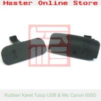 Harga rubber penutup cap cover port usb mic kamera camera canon eos | antitipu.com