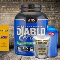ANS DIABLO PROTEIN 1 Lbs WHEY + FAT BURNER susu gym protein ECER