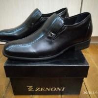 sepatu pantofel high heels kulit untuk pria