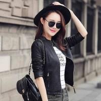 Produck By Delizia New model 2018 Jaket semi kulit wanita D-12