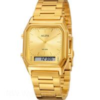 JUAL JAM Wanita merk Alfa Original DT Double Time Tali Rantai