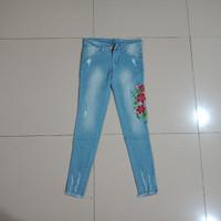Jual celana panjang size 27 28 29 30 jeans bordir strech murah bagus jamin Murah