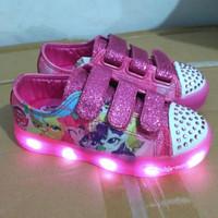sepatu lampu led anak little pony import murah