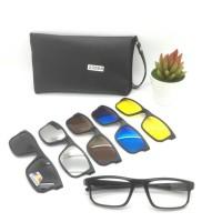 Frame Kacamata Minus Clip ON 5 Lensa Free Lensa Minus Plus Silinder