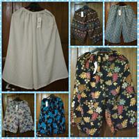 Celana Kulot Harian Pendek Dewasa / Celana Pendek Wanita Santai Murah