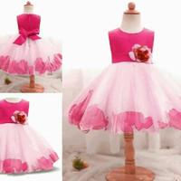 dress baju gaun pesta anak anak perempuan ulang tahun pink gaun mewah