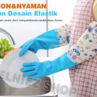 Sarung Tangan Cuci Piring Baju / Sarung Tangan Panjang Bahan Karet