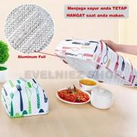 Harga tudung saji lipat aluminium foil penutup makanan tahan panas size   Pembandingharga.com