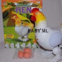 Mainan Ayam Telur Petelur Eggs in HEN Lampu Suara Bisa Jalan Murah