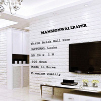 Wallpaper Foam Panel Korea Bata Putih