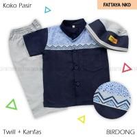 Setelan Koko Anak Fattaya, Koko Pasir, Size 3,  Baju Taqwa Anak