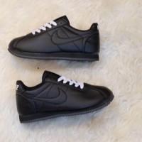Sepatu Wanita - Nike Cortez Classic Full Black - GO