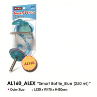AL160 Alex Smart Bottle Blue 250ml Tempat Minum Guinea Pig Kelinci