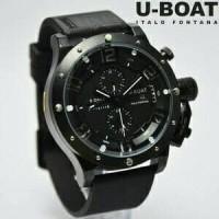 Jam Tangan Pria U-Boat Italo Fontana Full Black Balok Angka Putih