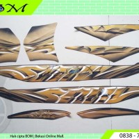 Striping Stiker yamaha mio soul 2011 hitam reddish black metallic