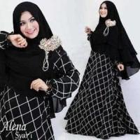 Hijab Modern Alena Set 2in1 ( Gamis Katun + Pasmina ) Limited Murah