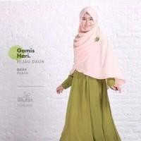 gamis syar'i gamis hari hijau daun size S hijab alila Murah Banget