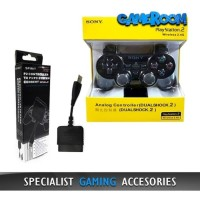 Stik Stick PS2 Wireless Controller Ori Pabrik + Receiver Converter PC
