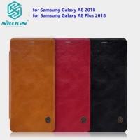 Nilkin QIN Leather Case Flip Case Samyang Galaxy A8 Plus 2018