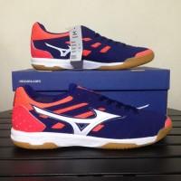 Sepatu Mizuno sala Classic 2 In - Blueprint   Wthite  Fiery Coral