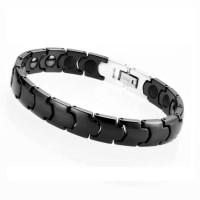 Premium Black Ceramic Energy Magnetic Bracelet - Gelang Pria / Wanita