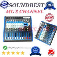 MIXER SLIM SOUND BEST MC8 CHANNEL ORIGINAL Murah