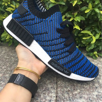 dc5104650d Sepatu Sneakers Pria ADIDAS NMD R1 PRIMEKNIT CAMO NAVY PREMIUM