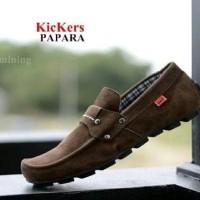 KICKERS parapara Sepatu pria santai kuliah indoorslop slip on mocasin