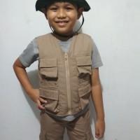 Rompi anak petualang paket lengkap, celana dan Topi