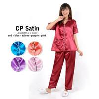 Baju Tidur/Piyama Satin Lengan Pendek Celana Panjang