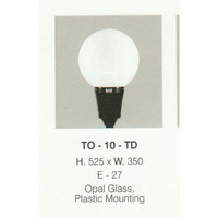 Dlx Lighting TO-10-TD Lampu taman Pilar bulat diameter Kaca 35cm