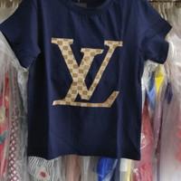 baju anak tanggung cewek branded kaos LV navy big sz fashion