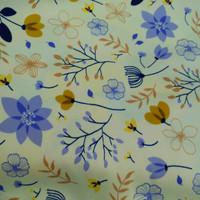Hijab Segi Empat Velvet motif rumput
