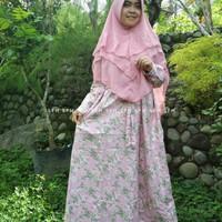 SALE!!! Gamis Dress Pink Lorena Katun Jepang Ori SFH