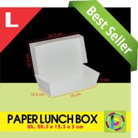 Paper Lunch Box / Kotak Makan Polos Ukuran Large (20 x 12.5 x 5 cm)