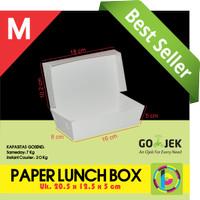 Paper Lunch Box / Kotak Makan Polos Ukuran M - GOSEND