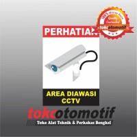 Sticker Safety Sign K3 Area Diawasi CCTV