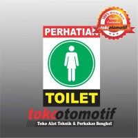 Sticker Safety Sign K3 Toilet Putri