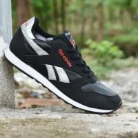 Sepatu Casual Reebok Classic Grade Ori Hitam Silver - Sport Kets Pria