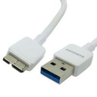 USB 3.0 Micro B Data Cable 10 Pin for Samsung Galaxy Note 3 - White
