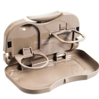 New! Travel Dining Tray - Meja Portable Mobil / Bottle Can Holder /