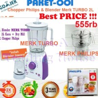 Jual Paket 001- Blender Merk Turbo + Chopper Philips Limited