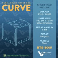 New! Curve Kotak Tisu Akrilik / Acrylic Tissue Box - Tebal 5Mm Diskon