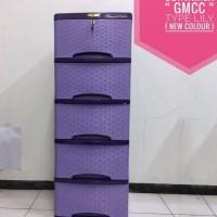 Sale! Lemari Plastik Murah Merk Gmcc Tipe Lily Polos Susun 4 Unik