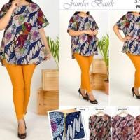 Promo Blouse Batik Super Jumbo Bigsize Baju Atasan Wanita Big Size 373