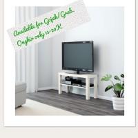 1.IKEA LACK MEJA TV MINIMALIS, RAK TV WARNA PUTIH